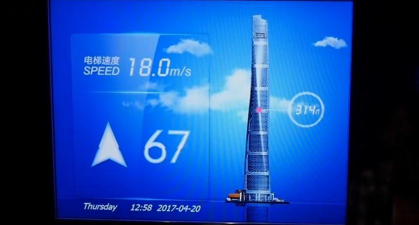 Najbržim dizalom na svijetu do najviše promatračke platforme, Šangajski toranj – video