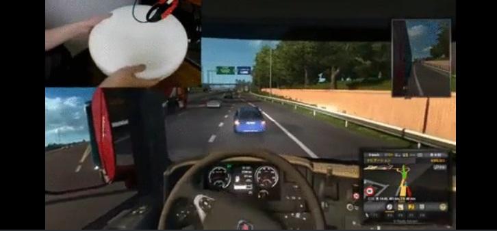 Simulator volana za kompjuterske igrice – miš i stolica koja se okreće – GIF