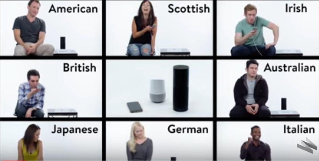 Ljudi s različitim naglascima testiraju Siri, Echo i Google Home