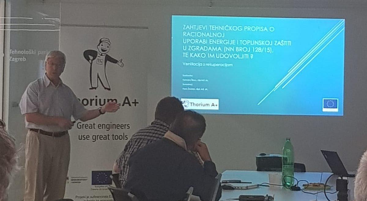 Peti Thorium seminar: Zahtjevi Tehničkog propisa o racionalnoj uporabi energije i toplinskoj zaštiti u zgradama (NN broj 128/15), te kako im udovoljiti ?