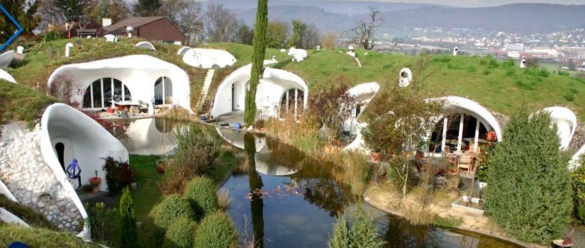 Zemljane kuće u Dietikonu, Švicarska – video