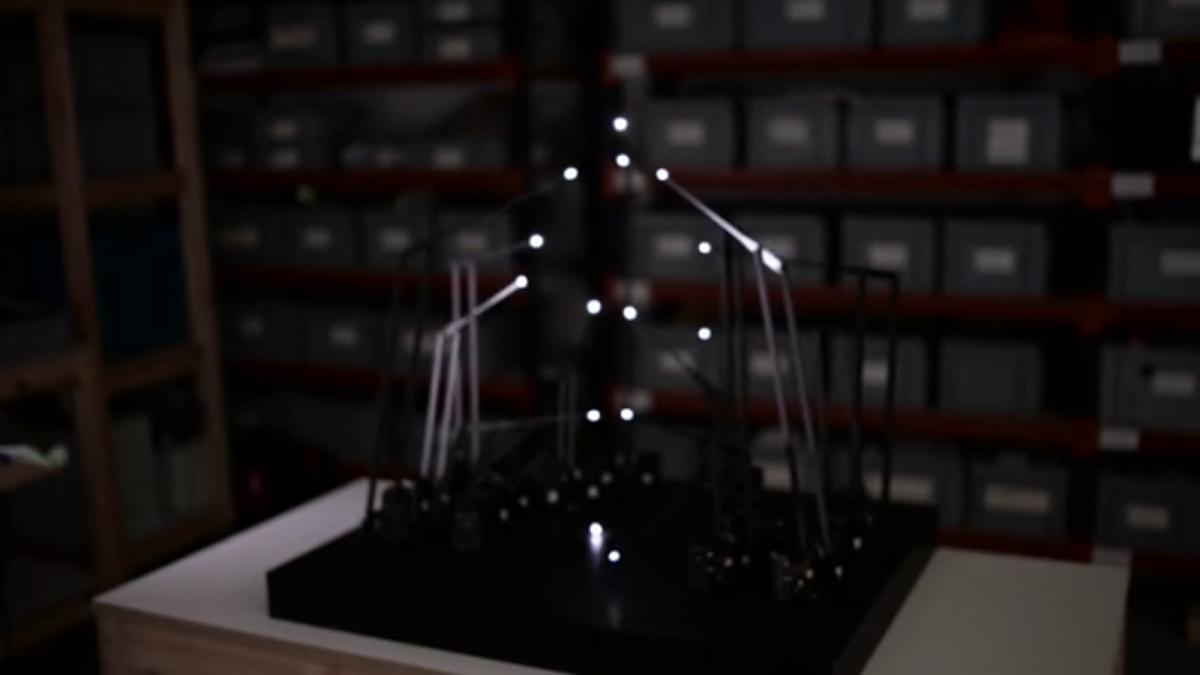 "Kinetička skulptura: ""Studija za petnaest točaka"" – GIF"